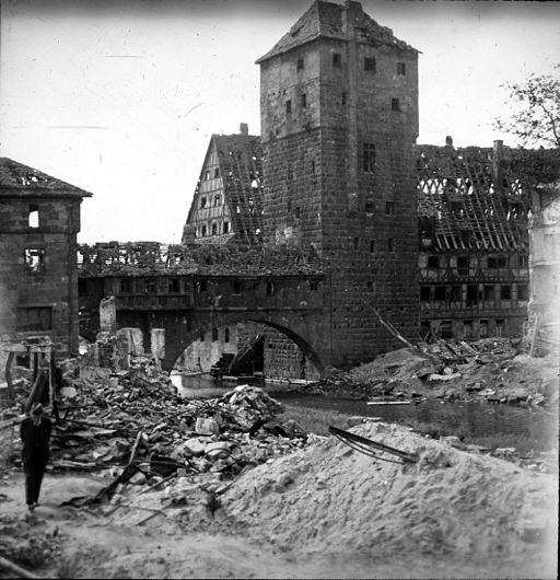 bombed building in Germany