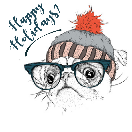 Happy Holidays? Pug