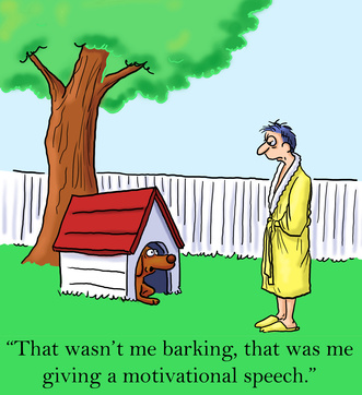 cartoon about barking dog